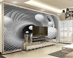3d Home Wallpaper White Circle Floats ...