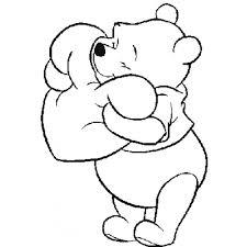 Disegno Di Winnie Pooh Con Il Cuore Da Colorare Per Bambini