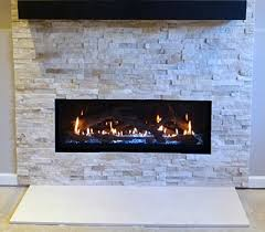 basement remodel installed linear gas fireplace