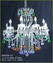 multi color crystal chandelier colored glass mini crysta multi colored crystal chandelier