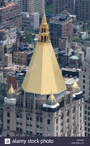 united states new york city manhattan life insurance company or nylic building with its golden roof from empire state