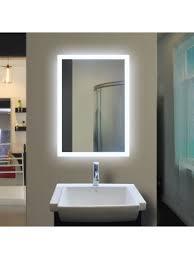 backlit bathroom mirror rectangle 40 x 24 in