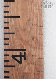 Diy Height Chart How To Mark Height On A Ruler Growth Chart Cutesy Crafts