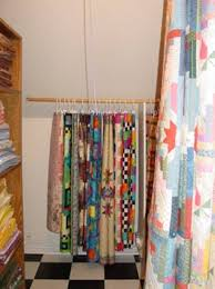138 best Quilt Room: Quilts & Batting images on Pinterest | Quilt ... & By using two to four skirt hangers per quilt and by folding the quilts in a Adamdwight.com