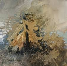 pin oak first frost negative painting linda kemp