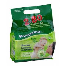 <b>Памперино</b> дуо <b>салфетки влажные</b> детские с алоэ вера 2x<b>№80</b> ...