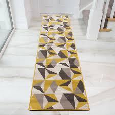 details about ochre yellow grey hallway runner rugs small large kaleidoscope narrow runners