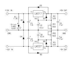 power supplies and control schematics circuits and diagram 12v > 5v power unit