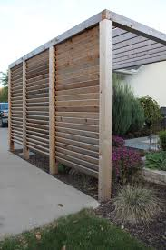 The privacy wall for deck