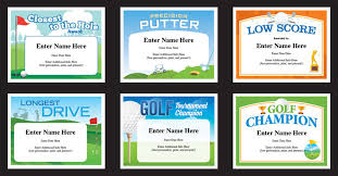 Recognition Awards Certificates Template Golf Certificates Templates Recognition And Awards For Golfers
