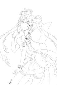 Princess Serenity Line Art By Nightmaresky