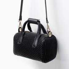 Buy ZARA Quilted Mini Bowling Bag Black [4241/004], Features ... & ZARA Quilted Mini Bowling Bag Black [4241/004] Adamdwight.com