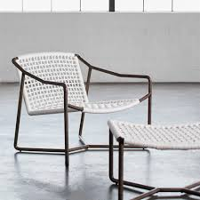 woven metal furniture. Palecek Dockside Modern Coastal Metal Hand Woven Rope Outdoor Lounge Chair | Kathy Kuo Home Furniture