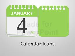 Powerpoint Calendar Template Awesome Calendar Icons Editable PowerPoint Templates