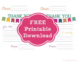Free Printable Kid S Thank You Card Templates Card Templates