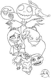 Pin By Jenny On Jack Skellington Christmas Coloring Pages Free