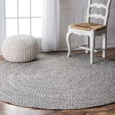 nuloom handmade casual solid braided round indoor outdoor rug 6 for rugs prepare 3