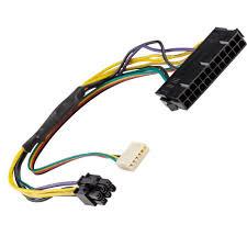 inch atx main pin to pin pci e psu power adapter  12 12 inch atx main 24 pin to 6 pin pci