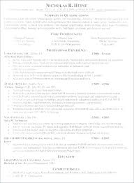 Executive Summary In Resume Custom Summary Of Qualification In Resume Summary Examples For Resume