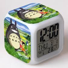 desktop clock color light vintage desk clock action toy figure kids alarm clock ro anese anime