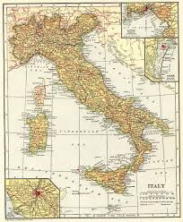 1918 Antique Italy Map Vintage Map Of Italy Travel Gallery Wall Art
