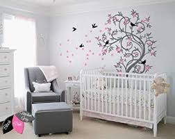 Wall Bedroom Decor Fascinating Amazon Tree Wall Decal With Birds Leaves And Cute Cherry