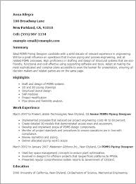 Piping Designer Resume Sample - Best Resume Collection