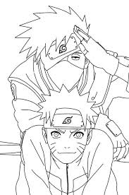 Naruto Coloring Pages With Kakashi Coloringstar