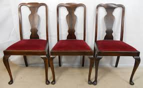 image of simple queen anne dining chairs