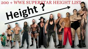 Celebrities Height Charts Wwe And Tna Male Wrestlers Height