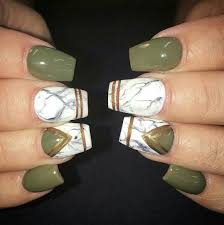 Olive, Marble, Gold Nails   beauty stuff   Pinterest   Gold nail ...