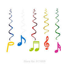 Us 9 59 40 Off 30pcs Set Pvc Music Theme Decorations Musical Note Cards Hanging Swirl Birthday Wedding Notes Diy Party Supplies For Home Xl056 In