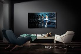 samsung curved tv wall mount. front view of curved tv mounted on wall with no-gap mount in a samsung tv