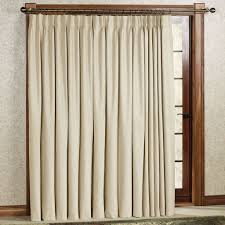 pinch pleat ring ds in cream satin patio door curtain for radiant