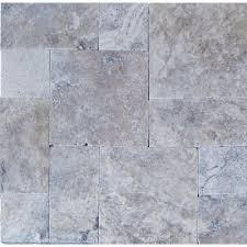 Silver Pattern Inspiration MSI Silver Pattern 48 In X 48 In Tumbled Travertine Paver Kit 48