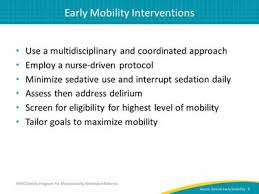 Nursing Charting Guidelines Nurse Driven Early Mobility Protocols Facilitator Guide