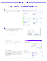 Resumes Search Quick Guides Power Resume Search Resume Actions