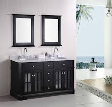 Glass Sink Bathroom Bathroom Interior With Brown Wooden Bath Vanity Using White Marble
