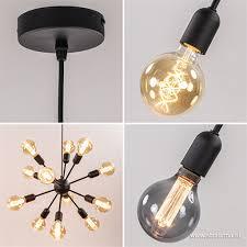 12 Lichts Hanglamp Spoetnik Zwart Vide Straluma