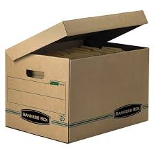 Bankers Box 100 Recycled Systematic Storage Boxes with Flip Top Lid  LetterLegal 12x10x15 12Carton