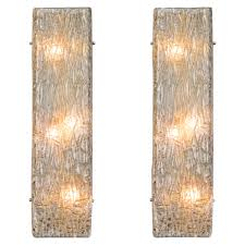 pair of murano glass wall sconces for