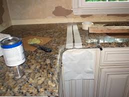 with the slabs flush and level on the cabinets if you have multiple slabs