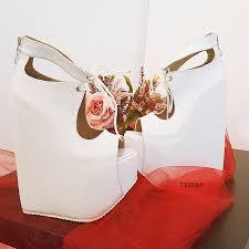 <b>Designer White High</b> Heel Wedge <b>Platform</b> Shoes – Tajna Club