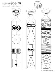 Free Craft Printables Templates Made By Joel Valentines Card Creatures Kids Craft Printable
