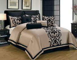 14 piece queen dawson black and gold bed in a bag set great website for comforter sets