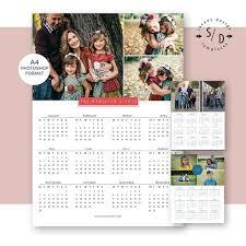 Photoshop Calendar Template 2020 Calendar 2019 2020 A4 Calendar Template Printable Photo Calendar Template For Photographers Instant Download