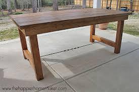diy outdoor table. Diy Outdoor Dining Tables The Garden Glove Table