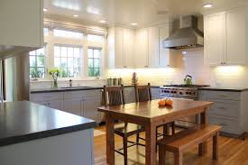 Blue Gray Kitchen With White Cabinets Kitchen Appliances Tips And