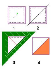 Tip Half Square Triangles Moonlight Quilters