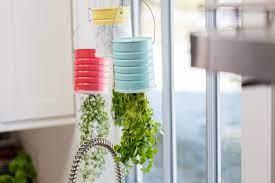 diy upcycled hanging herb garden